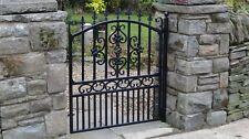 Wrought Iron Gate, single gate, ornate garden gate, drive gate, fabricated gate,