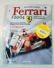 Kyosho DeAgostini Kit Ferrari F2004 / F1-04058 mit Heft OVP Ausgabe Nr.58