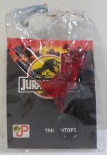 JURASSIC PARK VTG 90's KO DINOSAUR T-REX 2'' CLEAR RED FIGURE KEY CHAIN
