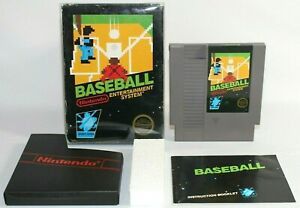 Baseball NES Nintendo Complete CIB Authentic & Tested Non Rev-A Hangtab 5 Screw!