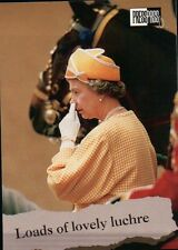 Queen Elizabeth II and a White Glove - Royal Family Trading Card, Not a Postcard