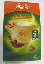 GENUINE MELITTA 1 x 2 BOX OF 80 BROWN ORIGINAL AROMAPOR COFFEE FILTERS  6587512