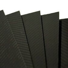PLANCHA DE FIBRA DE CARBONO 5mm TWILL Matte 2/2 500x400mm