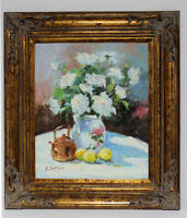 Oil Painting Flower 20 x 24 Oil Painting on Canvas w/ Large Frame