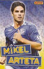 Everton: Mikel Arteta firmado A4 (12x8) Revista Imagen + certificado De Autenticidad