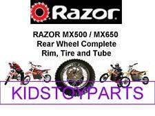 NEW!  RAZOR MX500 MX650 DIRT ROCKET BIKE REAR WHEEL TIRE ASSEMBLY WITH AXLE