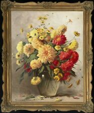 Henczné Deák Adrienne - Flower Still Life - FRAMED - SIGNED - HD Pictures