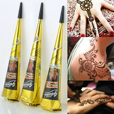 Black Color Herbal Henna Cones Temporary Tattoo Body Art Ink Hina Kit Mehandi
