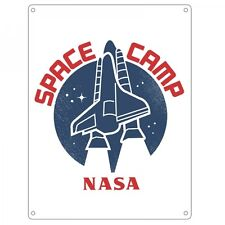 NASA ~ Small Wall Plaque/Sign (Metal/Tin) ~ SPACE CAMP