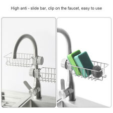 Faucet Storage Rack Stainless Steel Drain Rack with Hook for Kitchen Bathroom