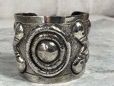 A.Tobias Mexican Sterling Silver 925 Repousse Cuff Bracelet Mexico Taxco