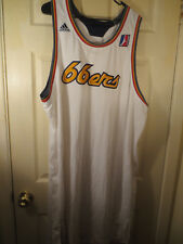 ADIDAS NBA D League 66ERS WHITE JERSEY - SEE MEASUREMENTS