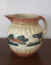 """Antique Roseville YELLOW WARE 7"""" Pitcher with LANDSCAPE"""