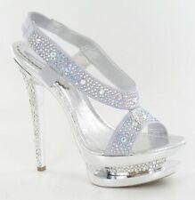 Zip Stiletto Strappy Heels for Women