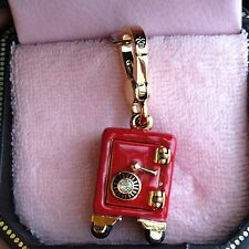 RARE! BRAND NEW JUICY COUTURE RED SAFE BRACELET CHARM IN TAGGED BOX