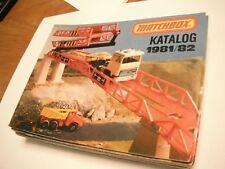 Original Matchbox 1981/82 German pocket catalog