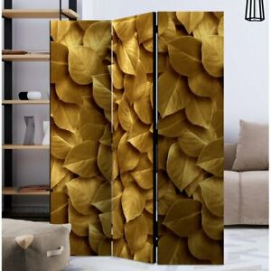 3 Panel Mayweather Room Divider Solid wood Double Sided Print 172cmHx135cmWx3cmD