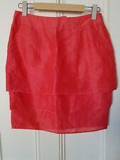 M&S Limited Collection  mini skirt Size 10. bright red silk & linen Rara skirt.