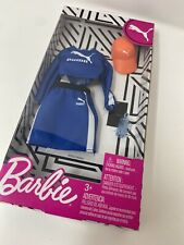 Barbie PUMA Fashion Outfit Pack Blue Top & Skirt Accessories Doll Clothes New