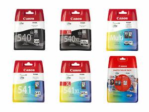 Canon PG540XL PG540 Black CL541XL CL541 Colour Ink Cartridges For PIXMA MG3650