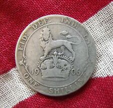 1906 Edward VII Shilling Coin One Shilling coin good clear condition