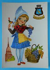 6694) Cartolina con ricamo - Piemonte -
