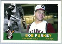 BOB PURKEY CINCINNATI REDS 1960 STYLE CUSTOM MADE BASEBALL CARD BLANK BACK
