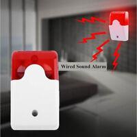 Sound&flash Security System Security Flashing Sound Strobe Alarm Siren Wired
