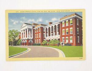 Spartanburg SC Cedar Springs School Deaf Blind Vintage Postcard Unposted