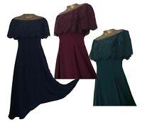 STUNNER COAST ORIEL LACE BARDOT DRESS REGULAR & PLUS SIZES NAVY GREEN RED 6-26