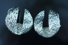 Tiffany & Co. Sterling Silver Earrings Beautiful Texture.