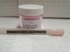 SNS FRENCH PINK GLITTER F2 Prebonded Sig Nail System French Nail Dip Powder:1oz