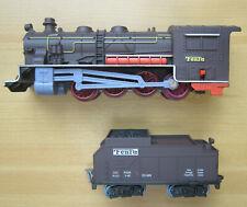FenFa KINDEREISENBAHN-Set batteriebetrieben Dampflokomotive+Tender+Personenwagen