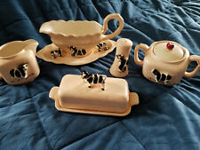 FIVE (5) 'COW' CERAMIC SERVING PIECES ~~ FREE SHIPPING in USA