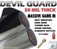 50Mil 50SqFt Devil Guard Sound Deadener + Dynamat SMP + Clean Sound, More Bass