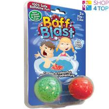 Baff Blast Bath Bombs 2 Pack Fizzing Bubbling Colorful Gelli Kids Children New