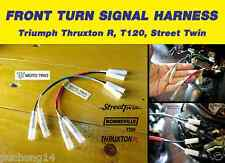MOTO TRIO FRONT TURN SIGNAL HARNESS PLUG (Fit: Thruxton R,T120,Street Twin)