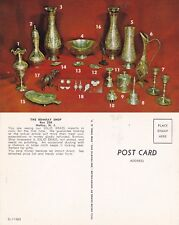 BRASS IMPORTS THE BOMBAY SHOP NUTLEY NJ UNUSED ADVERTISING COLOUR POSTCARD
