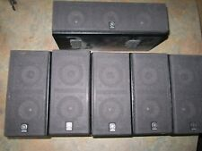 Set of 5 YAMAHA  NX-430P Satellite Speakers plus 1x NX-C430P Center speakerBlack