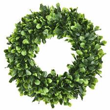 "Pure Garden Preserved Boxwood Wreath 16"" Home Door Decor Greenery Wedding Event"