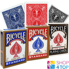 3 DECKS BICYCLE RIDER BACK STANDARD INDEX POKER PLAYING CARDS RED BLUE BLACK NEW