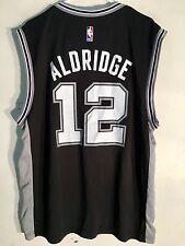 Adidas NBA Jersey San Antonio Spurs LaMarcus Aldridge Black sz XL