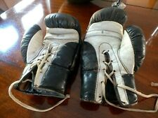 Pair of 1950's Vintage 6oz. Leather Boxing Gloves Suitable for Woman/Junior