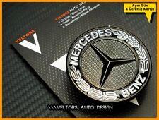 Mercedes W124 W163 W202 W203 W204 W205 W208 W210 W211 Black Hood Logo Emblem