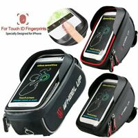 Waterproof MTB Bike Frame Front Bag Pannier Bicycle Cellphone Touch Holder Bag