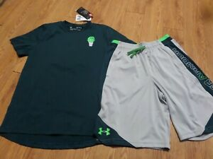 bnwt boy's 2 pc under armour outfit-size ymd -loose fit-summer vibes
