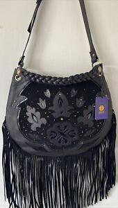 Mischa Barton Fringe Hobo Handtasche-echt Leder Marke neue Designer Tasche