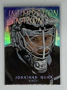 2020-21 Skybox Metal Universe Jonathan Quick Intimidation Nation #11 Upper Deck