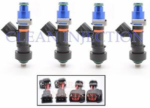 4 BOSCH 1000cc EV14 Fuel Injectors OBD2 D16 H22 B Series Civic Integra Honda