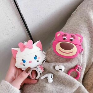 Cute Marie Cat Earphone Cover for apple Airpods Pro 3 2 Charging case Holder Bag